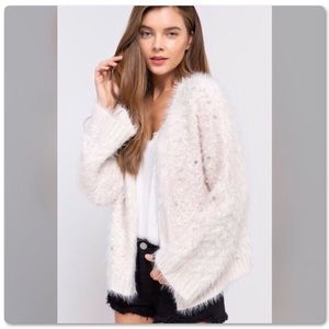 ♨️NEW Alpaca Pearl Embroidered Open Front Cardigan